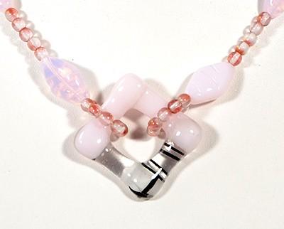 """""""Magnolia"""" nyaklánc, rózsaszín"""
