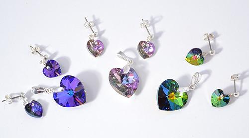 Swarovski kristály medálok és fülbevalók