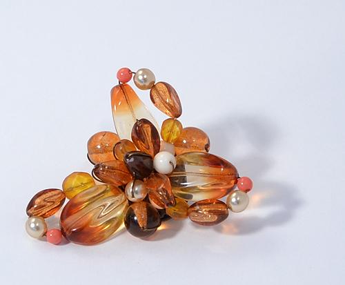 Bross üveggyöngyből, őszi színekben