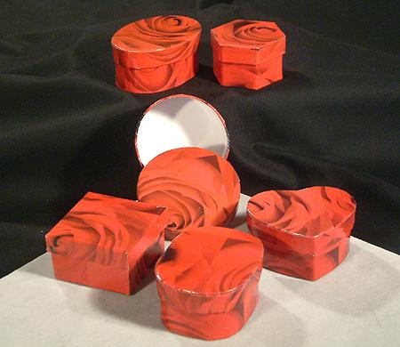 Kis díszdobozkák - rózsás