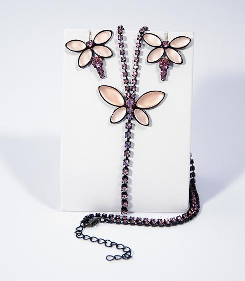 Butterfly ékszerszett - rózsaszín
