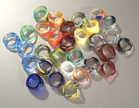 Egyedi üveg karikagyűrűk 2.