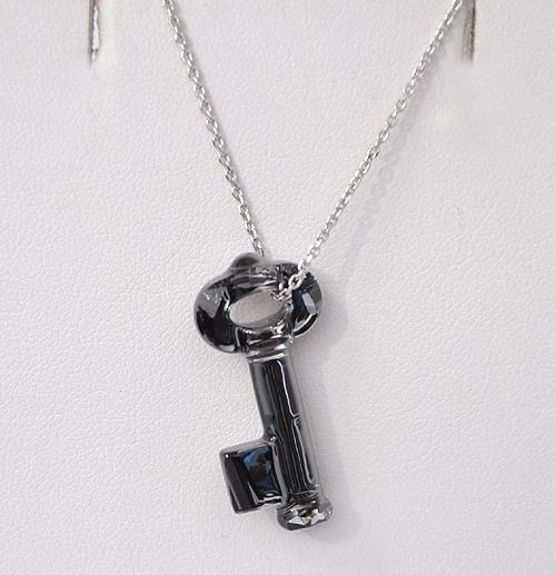 Kulcs alakú kristálymedál - Swarovski