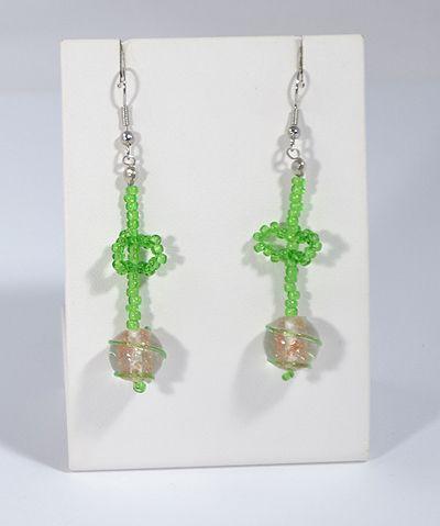 Zöld alma fülbevaló - 1250