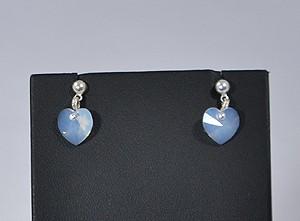 Szeretlek fülbevaló - white opal, 1250