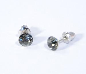Kristálypötty fülbevaló - black diamond - 1000