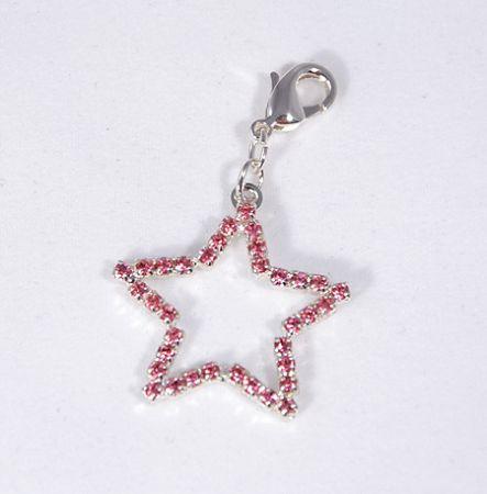 Csillag függő, rózsaszín - 1250 Ft