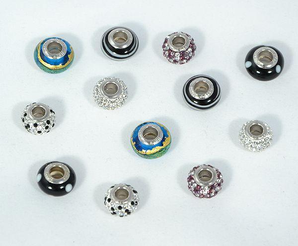 Pandora jellegű medálok, kristály és muránói üveg
