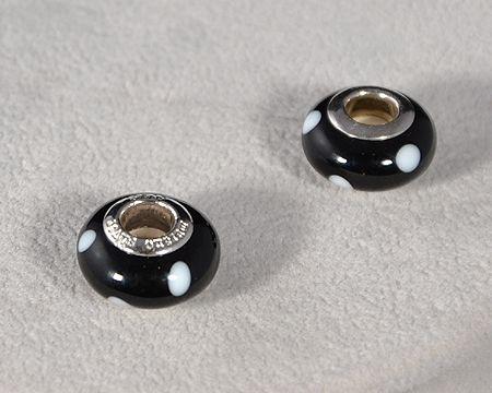 Muranói üvegmedál, pöttyös - 5000 Ft