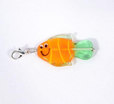 Ficánka egyedi üvegfüggő, narancs - 2000 Ft