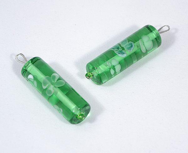 Tavasz üvegmedál, zöld - 1500 Ft