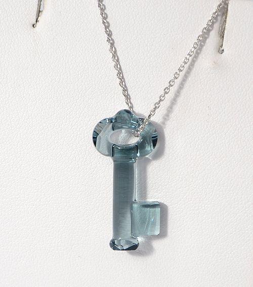 Swarovski kristálykulcs, indián zafír - 4800 Ft