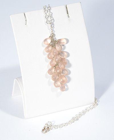 Üvegszőlő nyaklánc, matt rózsaszín - 1500 Ft