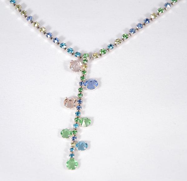 Színeske kristály nyaklánc