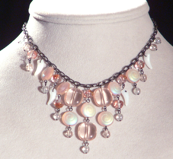 Csigabiga nyaklánc - rózsaszín