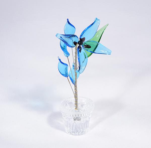 """""""Lili"""" - kicsi üvegvirág - világoskék"""